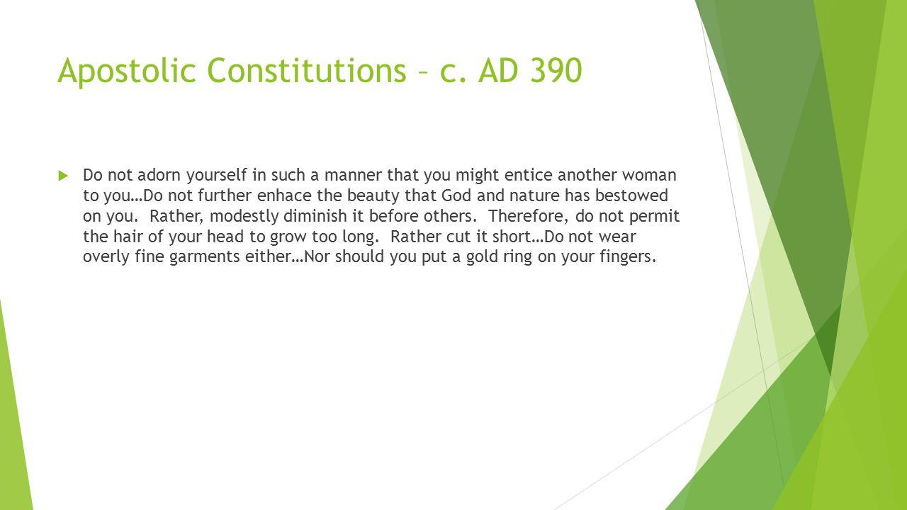 Apostolic Constitutions – c.