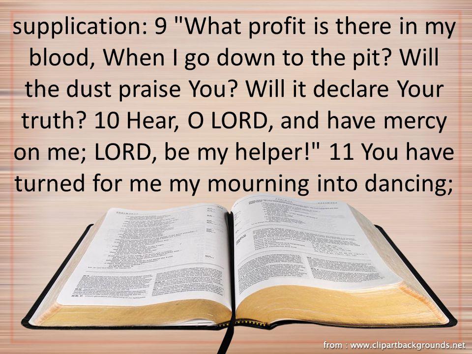 supplication: 9