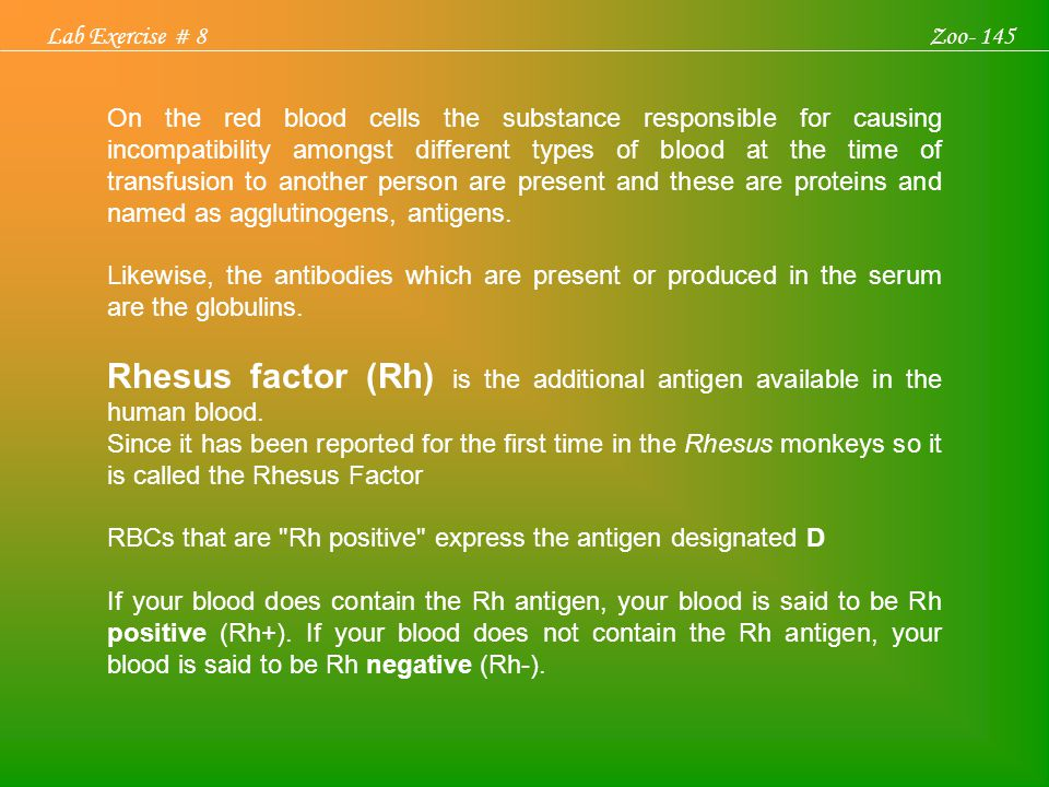 On the red blood cells the substance responsible for causing incompatibility amongst different types of blood at the time of transfusion to another pe