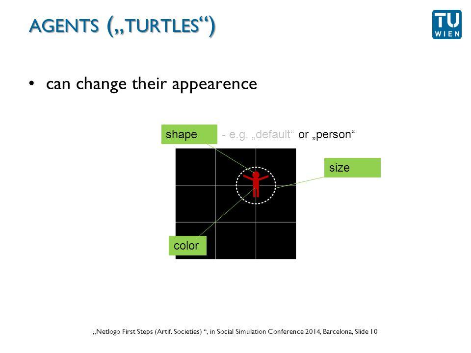 """Wurzer, Lorenz, Popov: """"NetLogo Workshop (Part 1) , in eCAADe 2012 Prague, Slide 10 """"Netlogo First Steps (Artif."""
