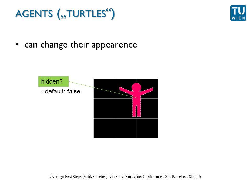 """Wurzer, Lorenz, Popov: """"NetLogo Workshop (Part 1) , in eCAADe 2012 Prague, Slide 15 """"Netlogo First Steps (Artif."""