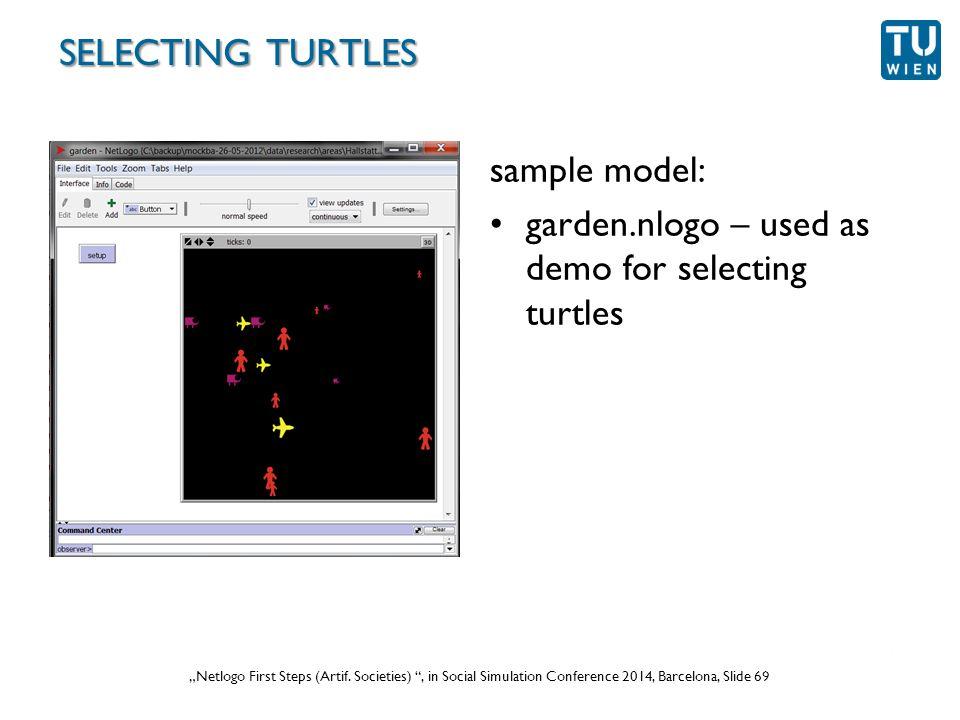 """Wurzer, Lorenz, Popov: """"NetLogo Workshop (Part 1) , in eCAADe 2012 Prague, Slide 69 """"Netlogo First Steps (Artif."""