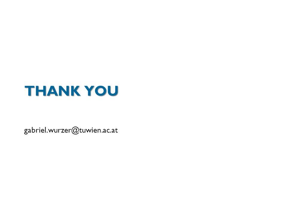 THANK YOU gabriel.wurzer@tuwien.ac.at
