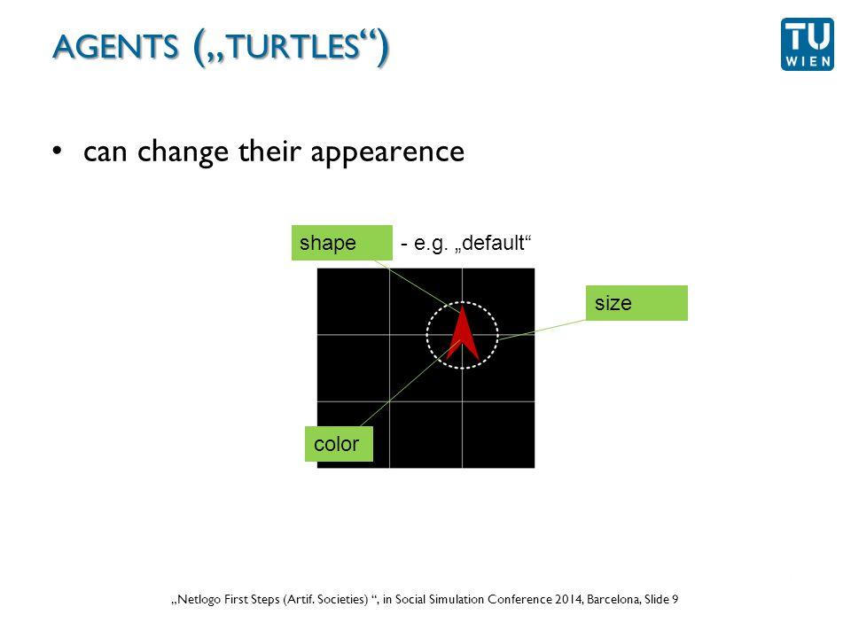 """Wurzer, Lorenz, Popov: """"NetLogo Workshop (Part 1) , in eCAADe 2012 Prague, Slide 9 """"Netlogo First Steps (Artif."""