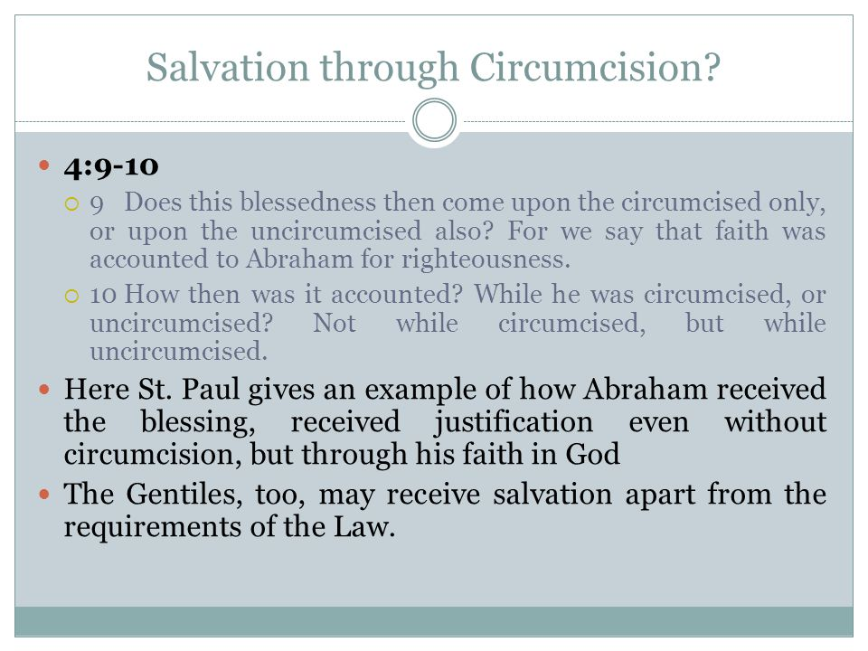 Salvation through Circumcision.