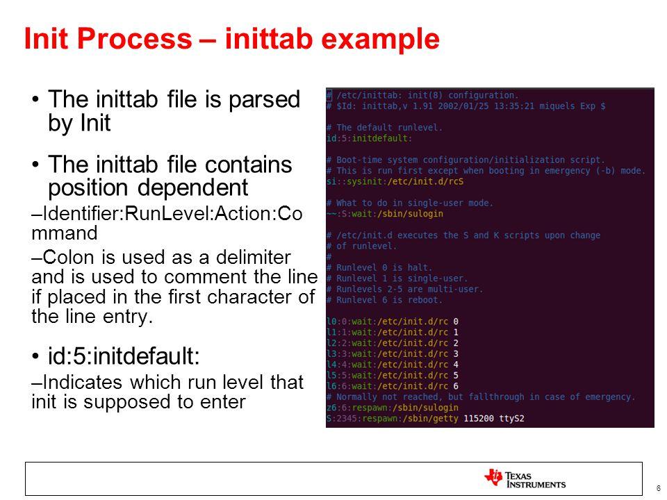 7 Additional inittab resource links http://publib.boulder.ibm.com/infocenter/aix/v6r1/index.jsp?topic=/com.i bm.aix.files/doc/aixfiles/inittab.htmhttp://publib.boulder.ibm.com/infocenter/aix/v6r1/index.jsp?topic=/com.i bm.aix.files/doc/aixfiles/inittab.htm