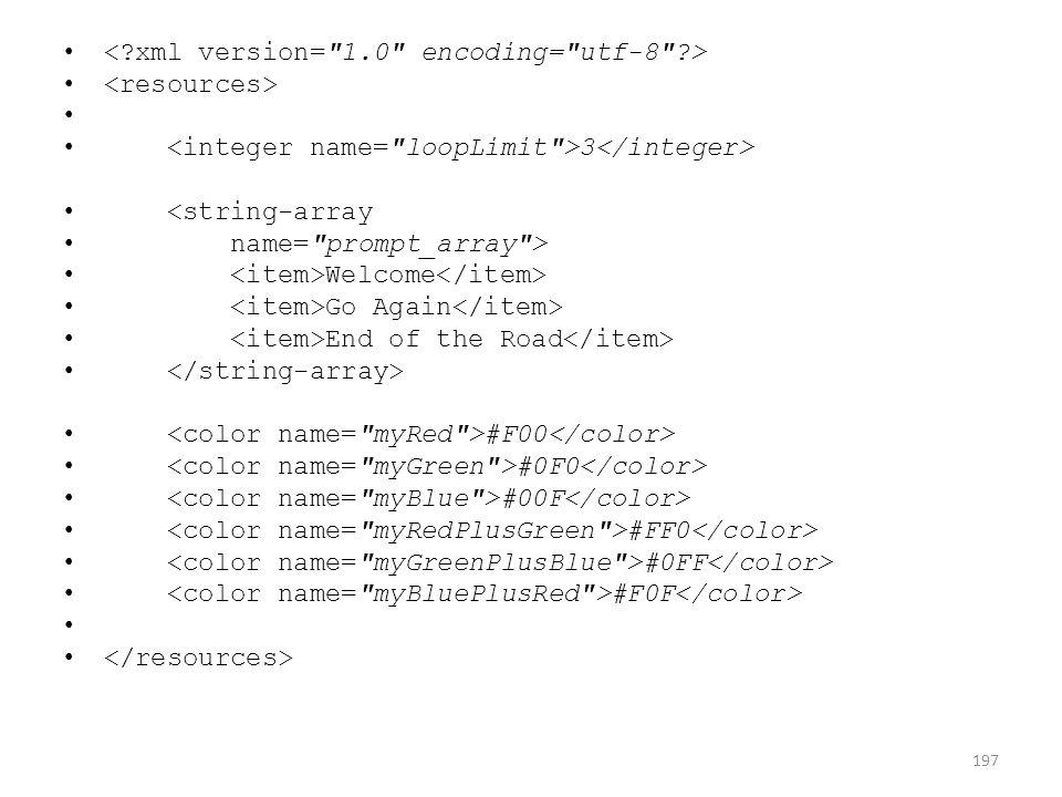 3 <string-array name=