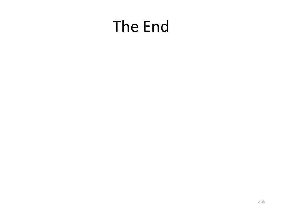 The End 256