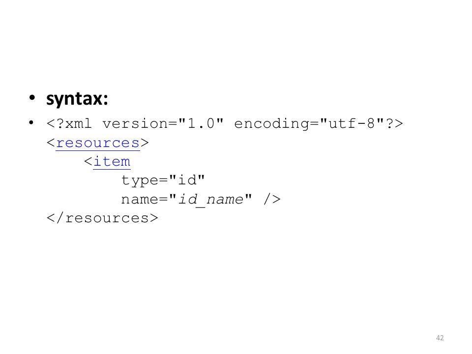 syntax: resourcesitem 42