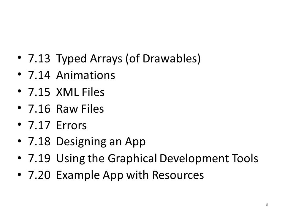 Layer List A Drawable that manages an array of other Drawables.