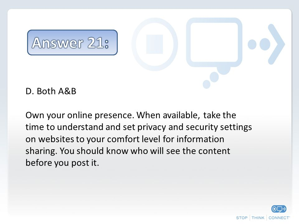 D.Both A&B Own your online presence.