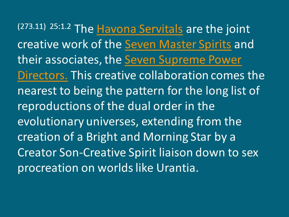 (279.12) 25:4.11 Technical Advisers frequently function as individuals but are organized for service and maintain common headquarters on the spheres of assignment in groups of seven.