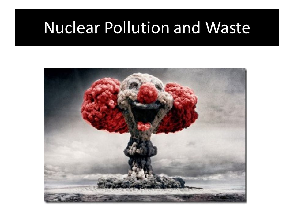 Nuclear Pollution and Waste