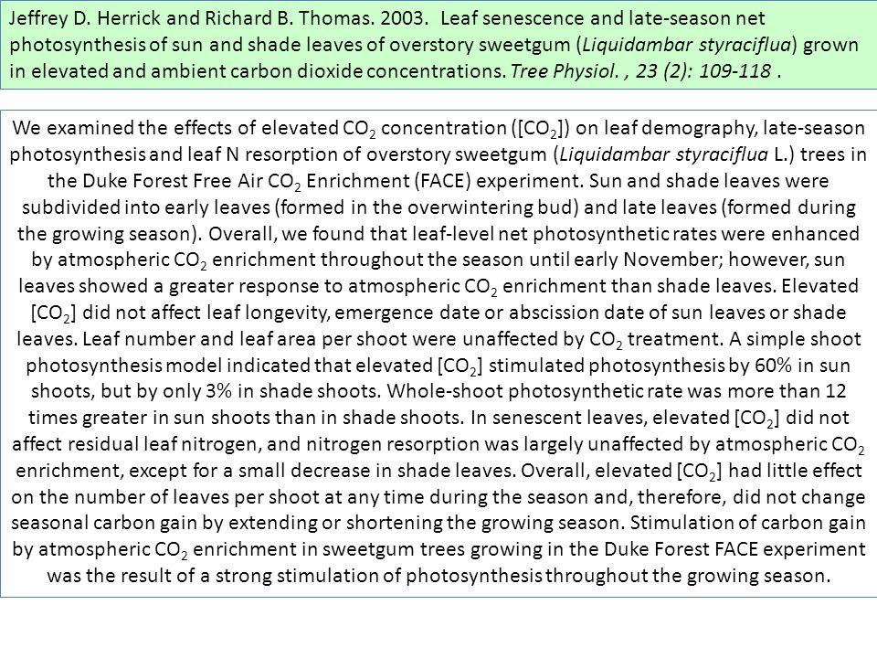 Jeffrey D. Herrick and Richard B. Thomas. 2003.