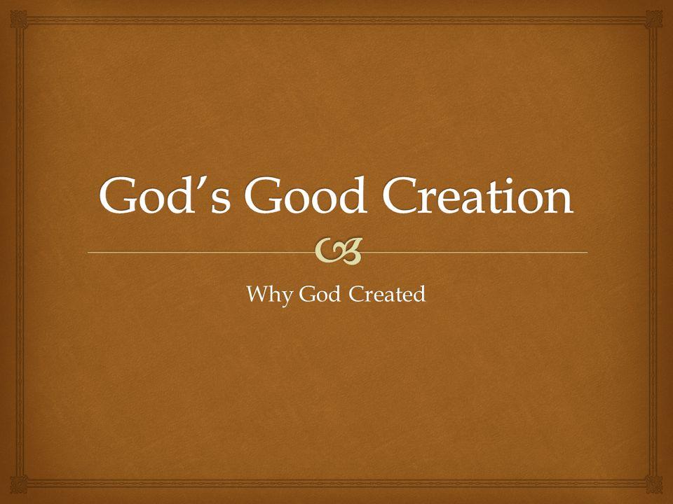 Why God Created