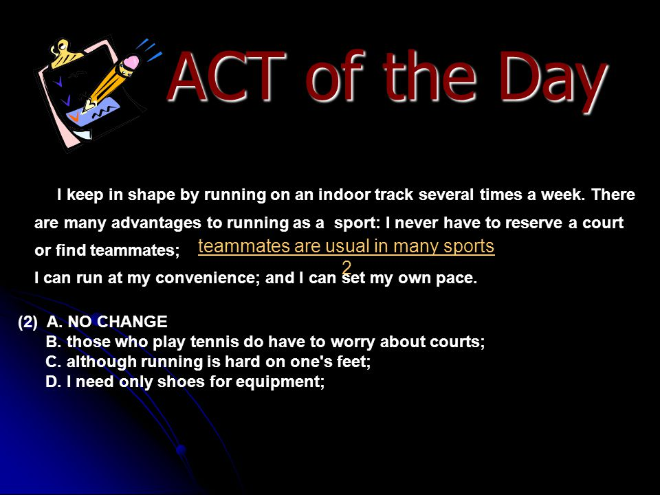 ACT of the Day [6] My favorite social runners are a pair of young garbed and on the alert for young men.