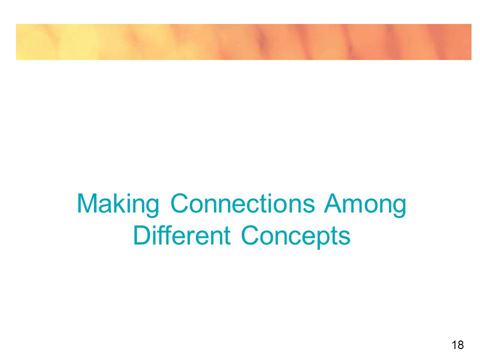 18 Making Connections Among Different Concepts