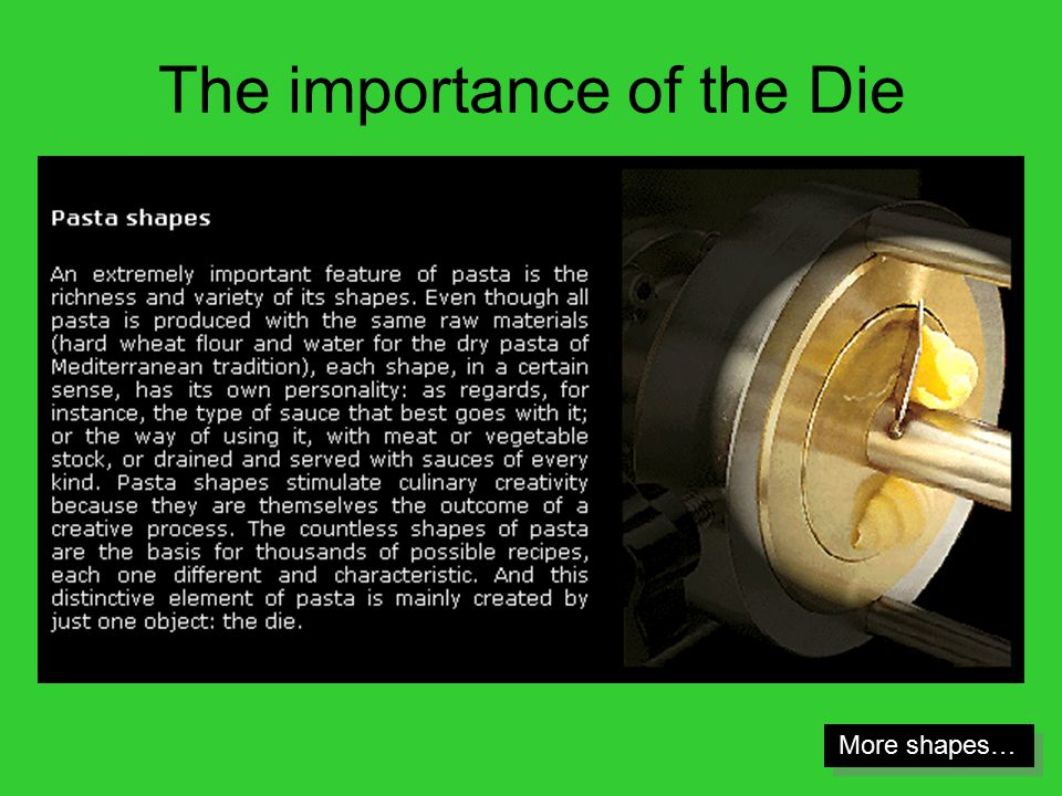 The importance of the Die More shapes…