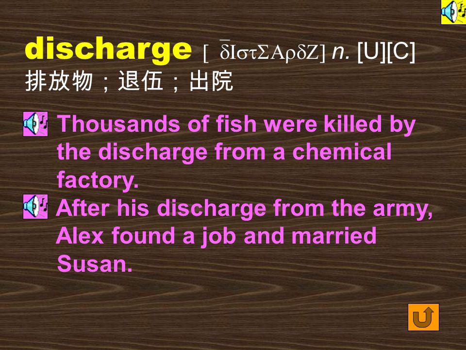 Words for Production 6. discharge [dIs`tSArdZ] vt.