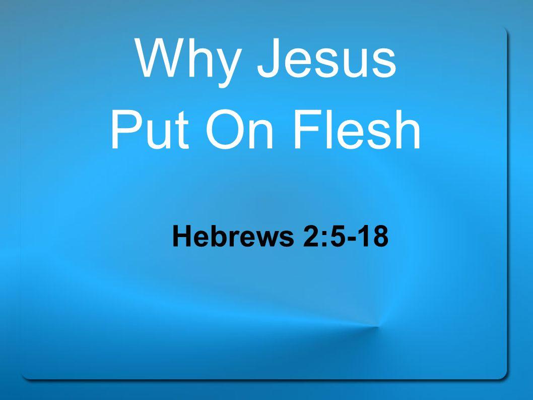 Why Jesus Put On Flesh Hebrews 2:5-18