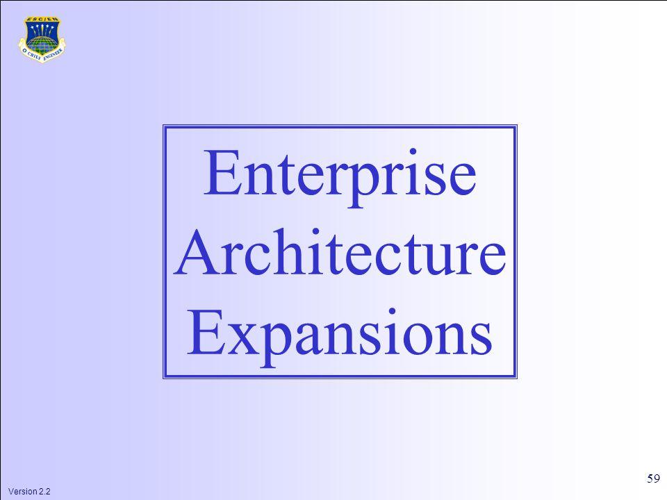 Version 2.2 59 Enterprise Architecture Expansions