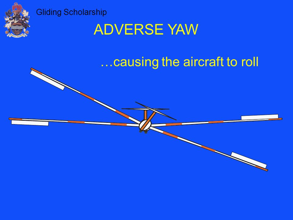 Gliding Scholarship ADVERSE YAW …causing the aircraft to roll