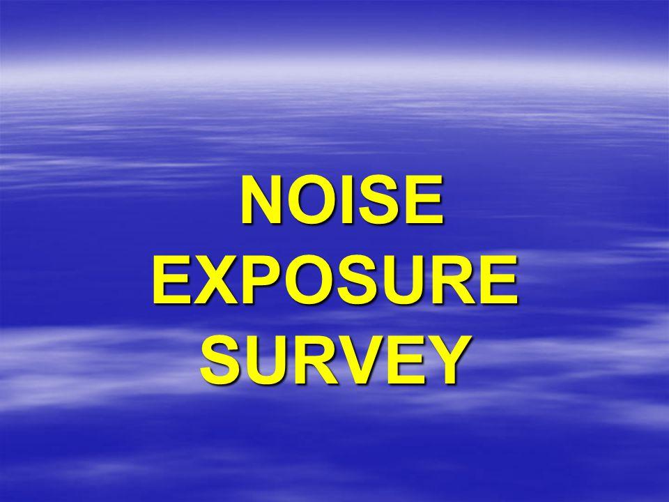 NOISE EXPOSURE SURVEY NOISE EXPOSURE SURVEY