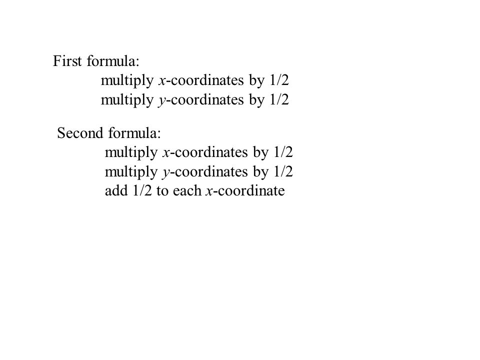 …then add half the base length to each x-coordinate.