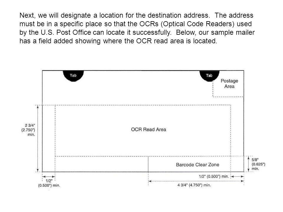 Next, we will designate a location for the destination address.