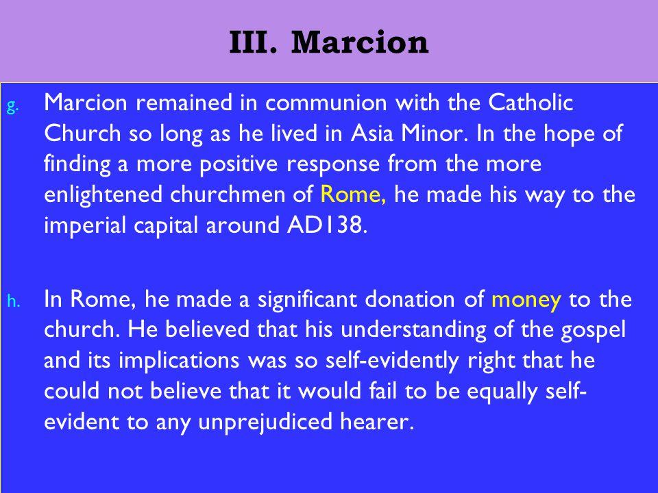 12 III. Marcion g.