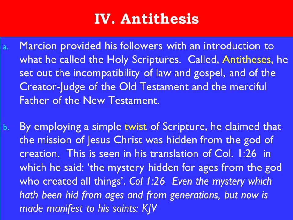 17 IV.Antithesis a.