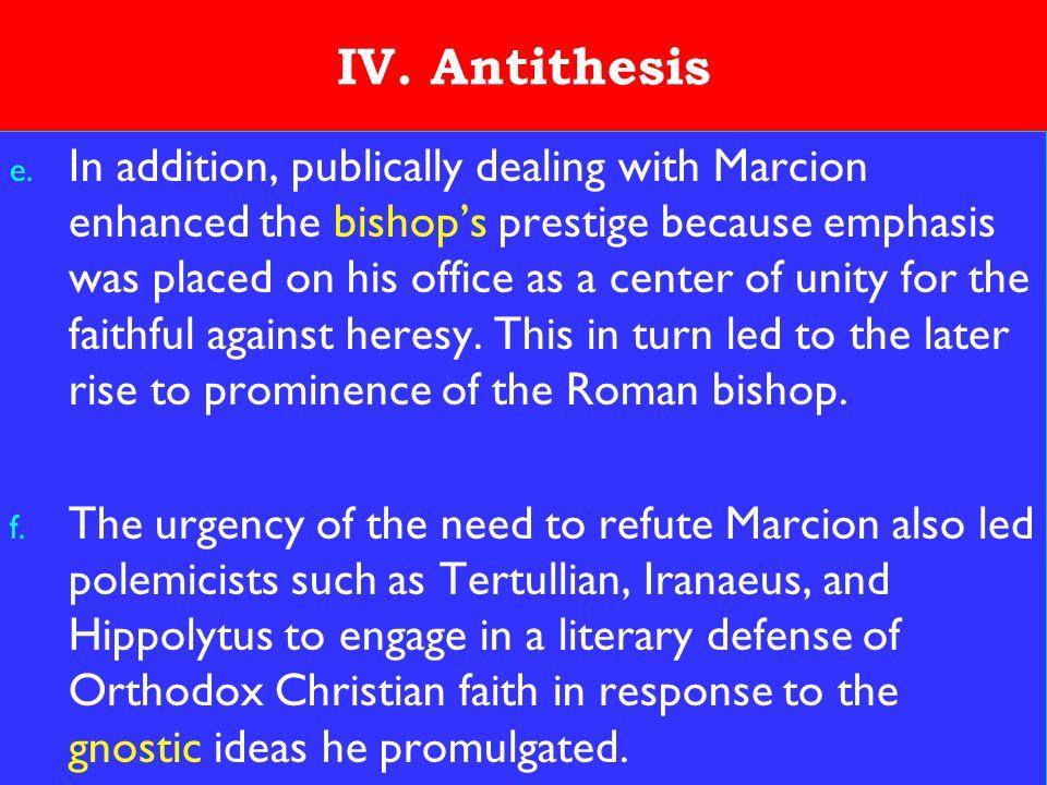 19 IV. Antithesis e.