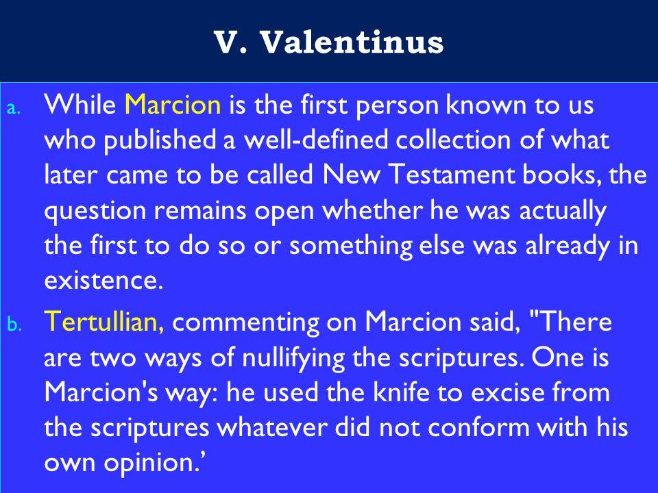 20 V. Valentinus a.