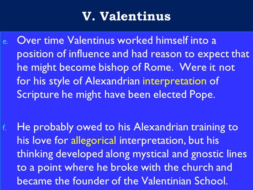 22 V. Valentinus e.