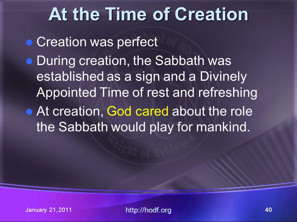 January 21, 2011 http://hodf.org 39