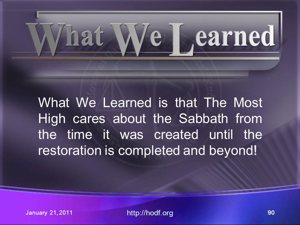 January 21, 2011 http://hodf.org 89
