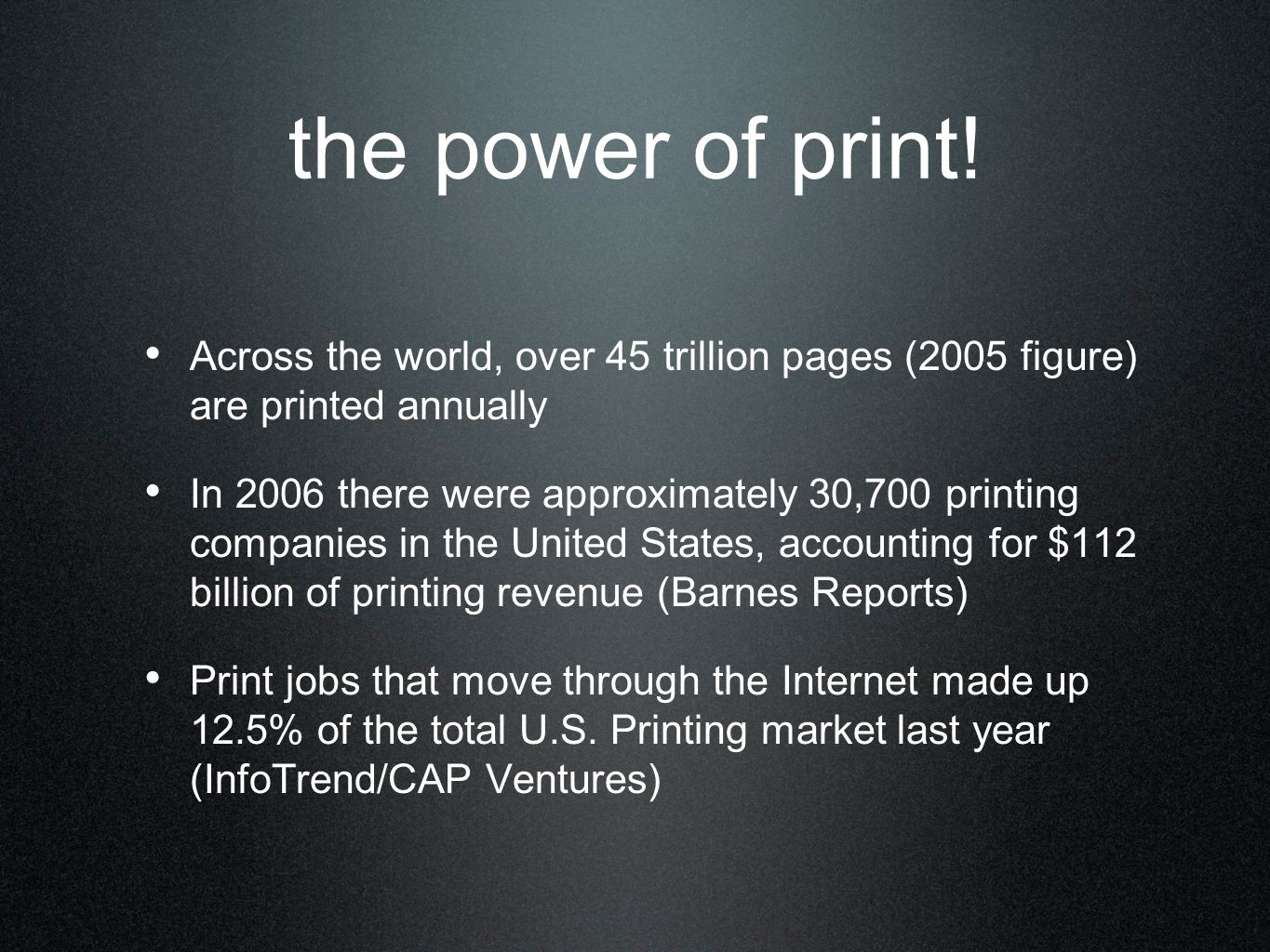 the power of print.