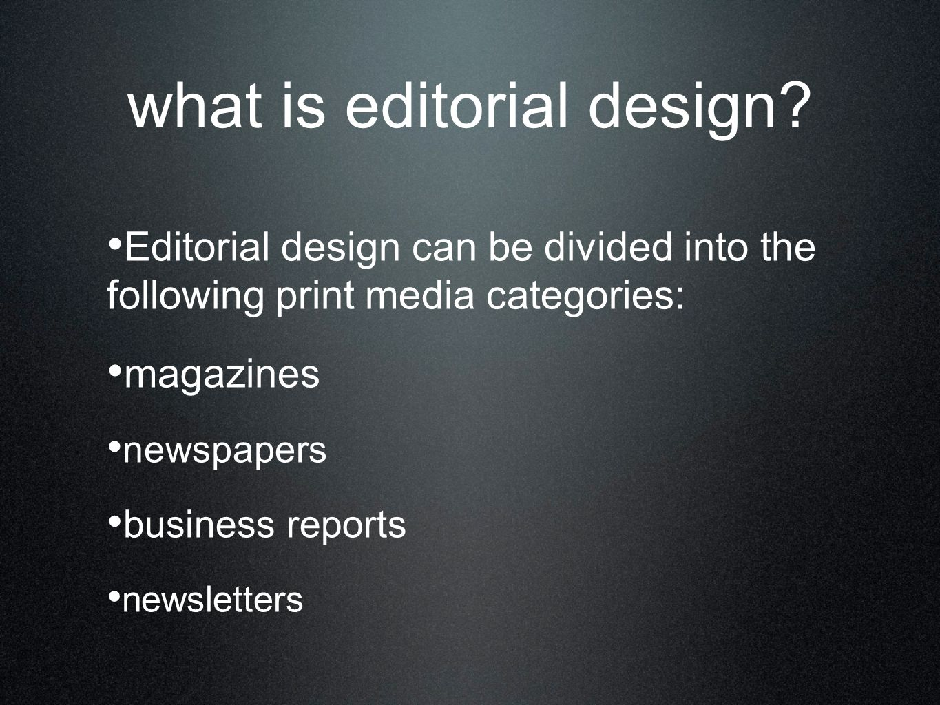 what is editorial design.