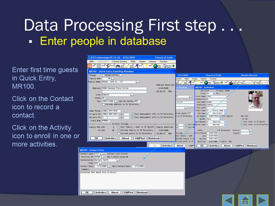 Data Processing First step...