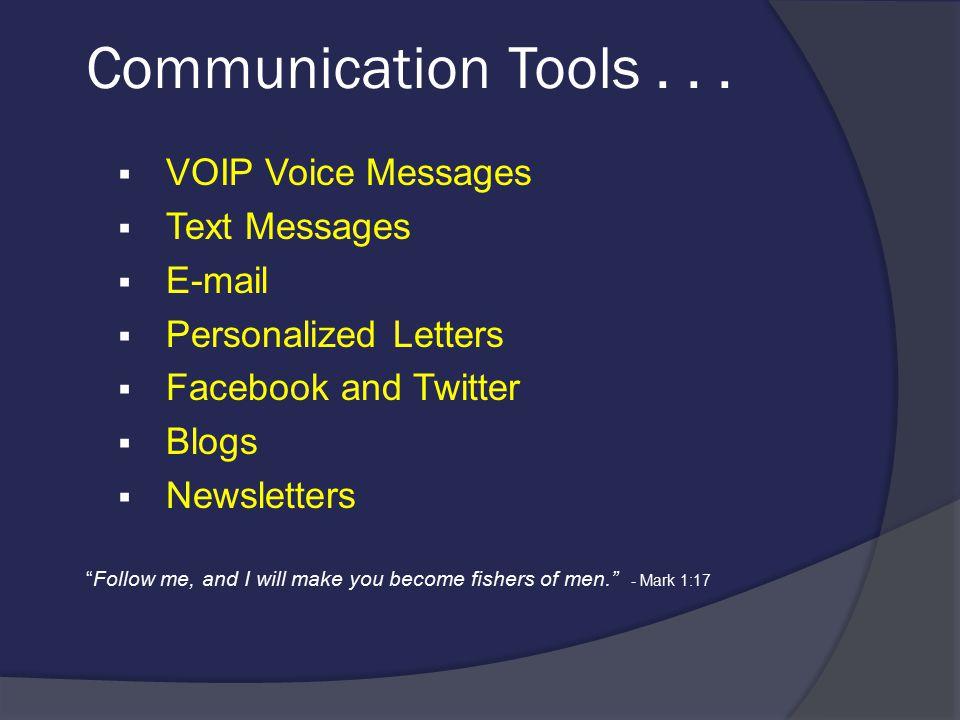 Communication Tools...