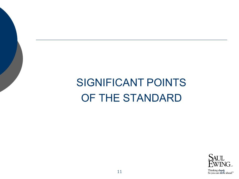 1112 SIGNIFICANT POINTS OF THE STANDARD