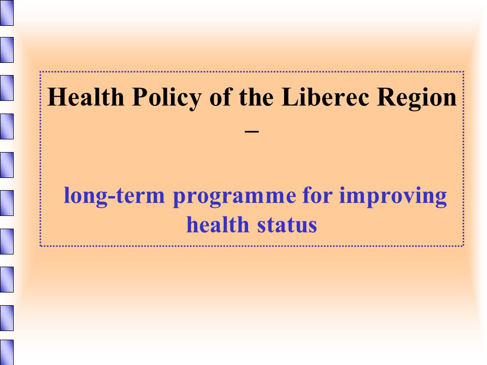 Health Policy of the Liberec Region – long-term programme for improving health status