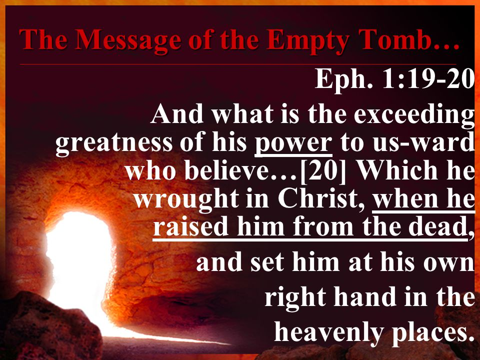 The Message of the Empty Tomb… Eph.