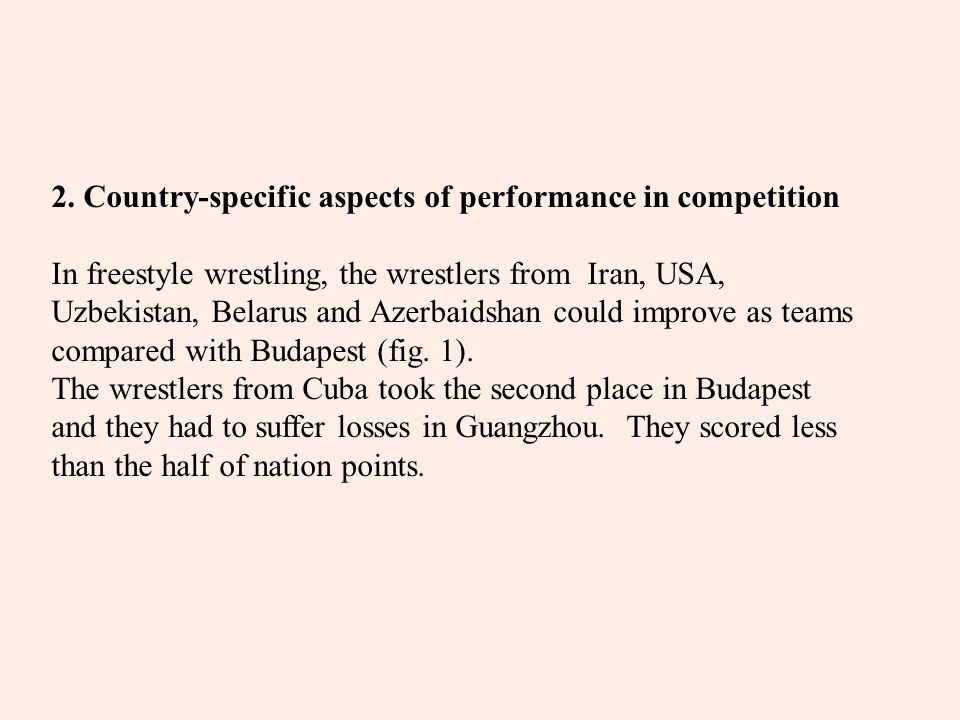 Fig. 1 Nation points of the 2006 WC and the 2005 WC in Freestyle Wrestling