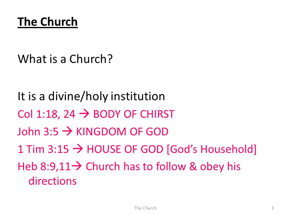 What is a Church.