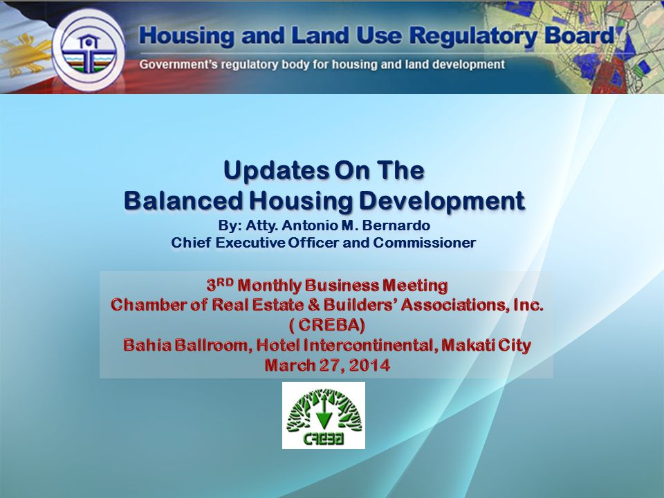 Percentage of Utilization Modes of Compliance Number Of Units New Settlements107,792 Joint Venture with LGUs and Private Developers 94,924 NHA SHUP35,704 Advance Credits21,404 Participation in CMP7,584 Gawad Kalinga and Habitat5,425 Socialized Condominium1,840 Purchase of Bonds115 TOTAL 274,788 Compliance for Subdivision Projects 2004 - 2013