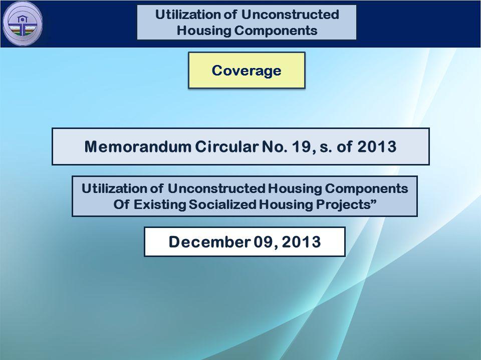 December 09, 2013 Memorandum Circular No. 19, s.