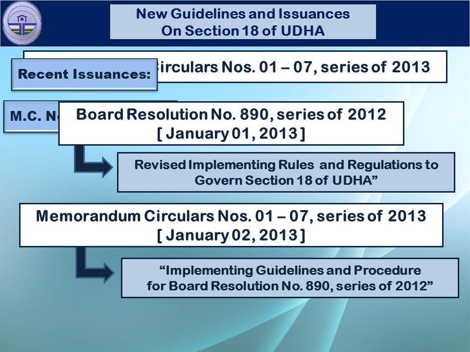 M.C. No. 01, s. of 2013 Memorandum Circulars Nos.