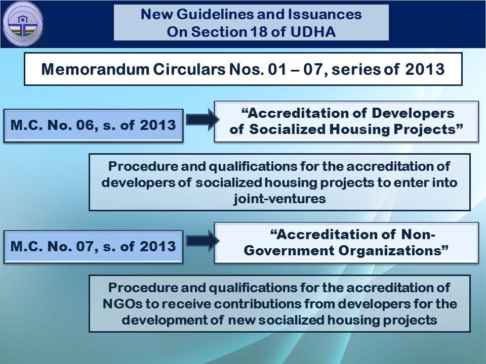 December 09, 2013 Memorandum Circular No.19, s.