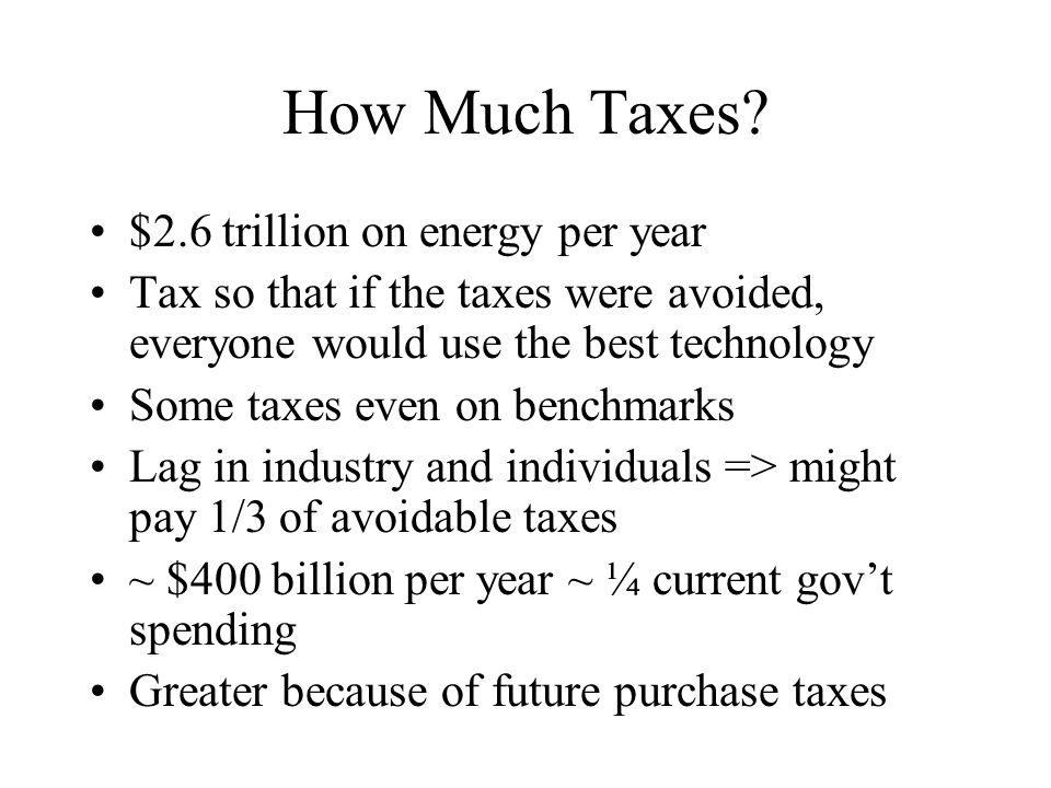 How Much Taxes.